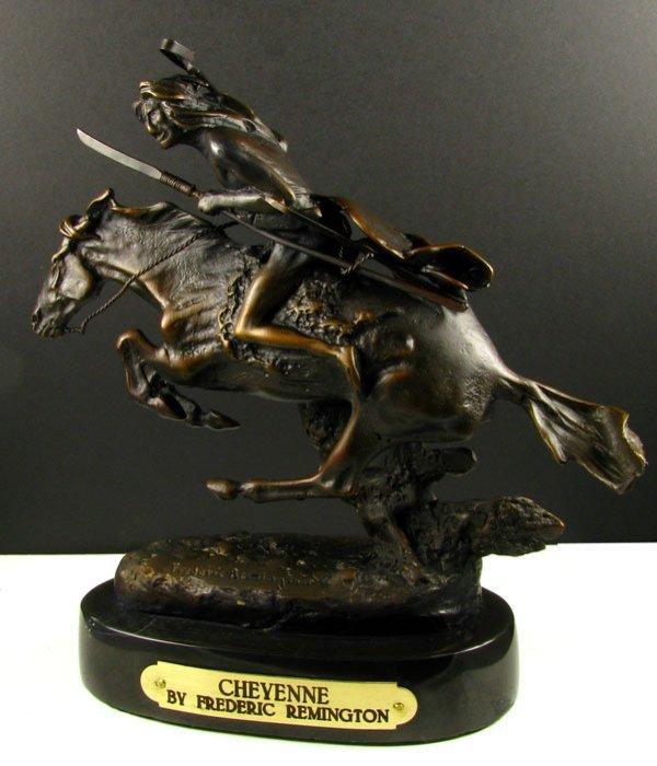 2208: Frederic Remington Bronze Reproduction - Cheyenne
