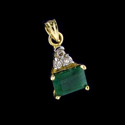 2224: APP: 1k 14 kt. Gold, 1.37CT Emerald and 0.045CT D