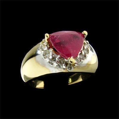 2232: APP: 8k 14 kt. Gold, 2.80CT Ruby and 0.24CT Diamo