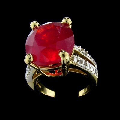 2250: APP: 51k 14 kt. Yellow/White Gold, 12.95CT Ruby a