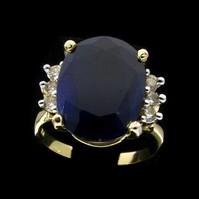 2726: APP: 13.1k 14 kt. Gold, 7.23CT Sapphire and Diamo