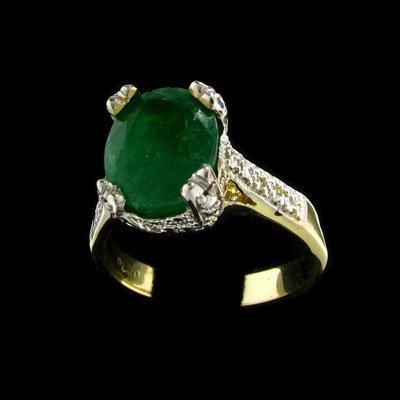 2740: APP: 10.5k 14 kt. Gold, 2.05CT Emerald and Diamon