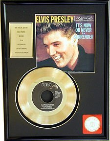 2742: ELVIS PRESLEY ''It's Now or Never'' Gold Record-F