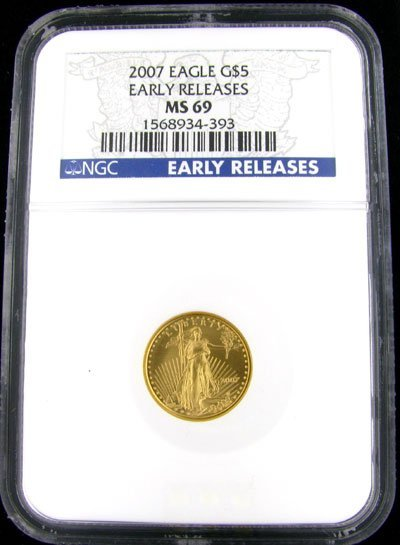 2004: 2007 $5 US Eagle Gold Coin - Potential Investment