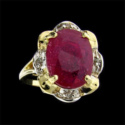 2034: APP: $6.6k 14 kt. Gold, 3.21CT Ruby and Diamond R