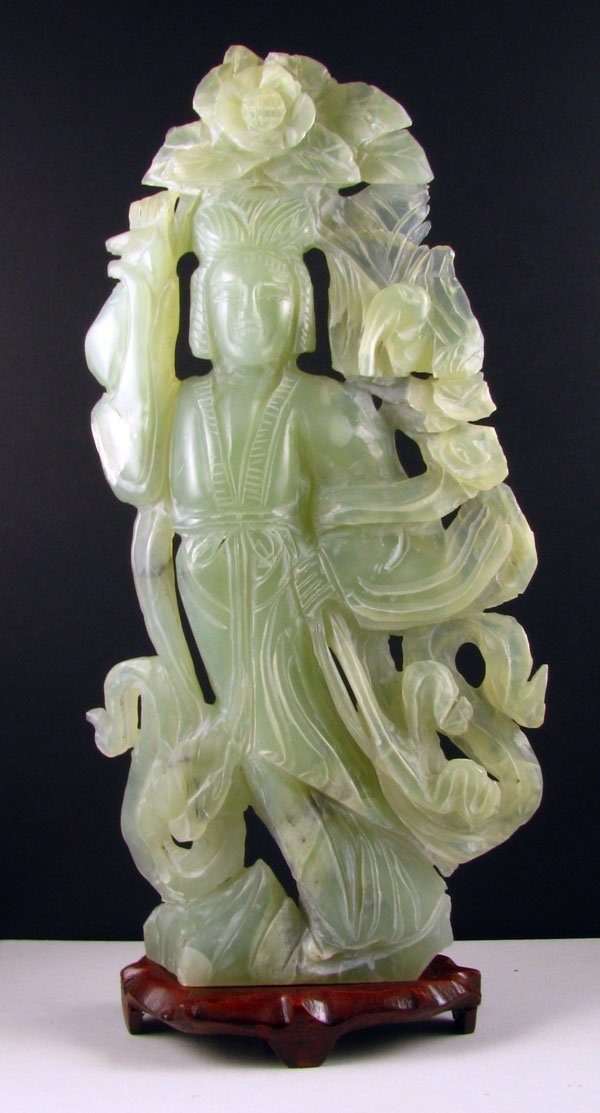 2333: Rare Jade Hand Carved Translucent Green, Collect