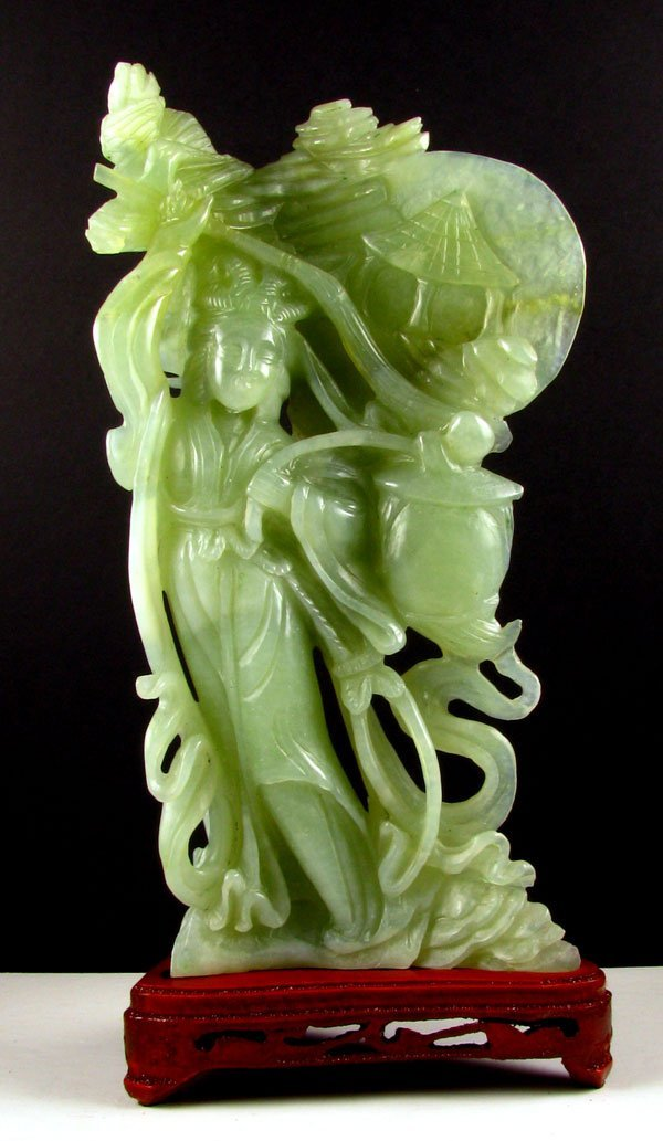 2361: Rare Jade Hand Carved Translucent Green, Collect