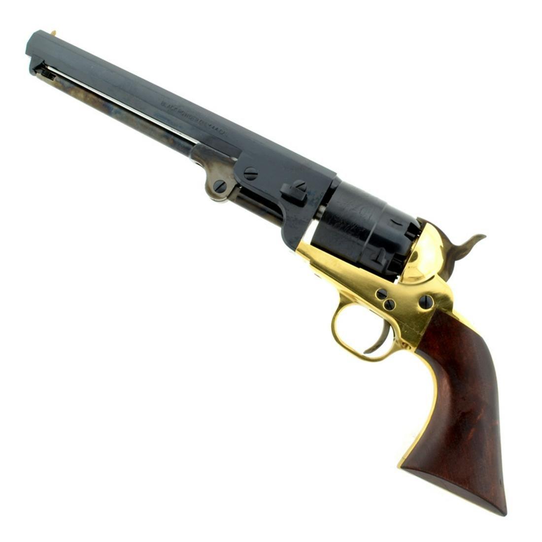 1851 Navy Revolver .44 Cal Brass Frame 7 1/2'' Blue