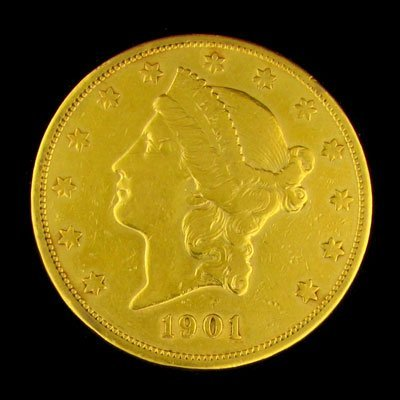 3072: 1901-S $20 US Liberty Head Type Gold Coin-Investm
