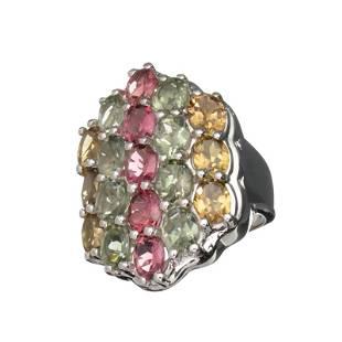 636CT Oval Cut MultiColored Multi Precious Gemstones
