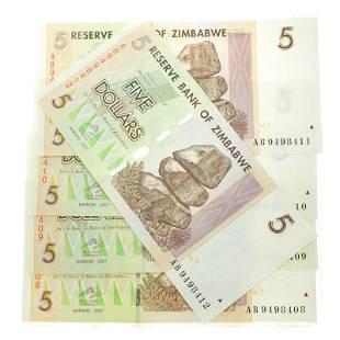 5 Zimbabwe Elephant Note