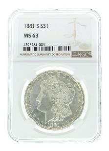 Extremely Rare 1881S US Morgan Silver Dollar Coin