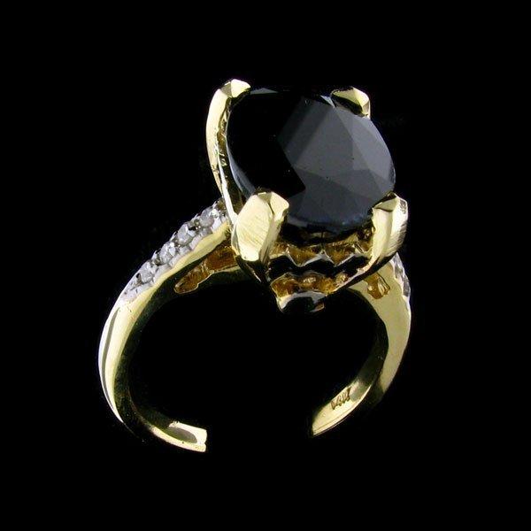 43: APP: 9.6k 14 kt. Gold, 7.51CT Sapphire and Diamond