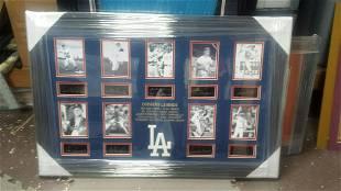 Dodgers Legends Plate Signatures