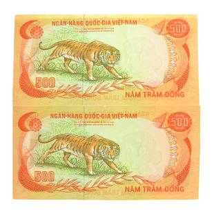 Vietnam South P33a 500 Dong Banknotes 2