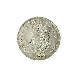 Extremely Rare 1833 Capped Bust Half Dollar Coin
