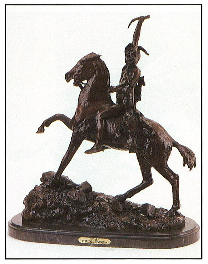 *Very Rare Large Scalp Bronze by Frederic Remington