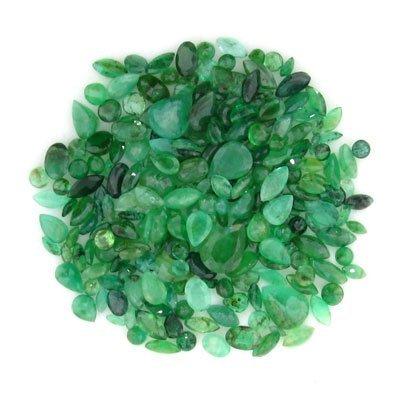 202: APP: $10.1k 50.53CT Mixed Cuts Emerald Parcel - Pr