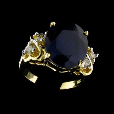 252: APP: $19.7k 14 kt. Gold, 6.72CT Sapphire and Diamo