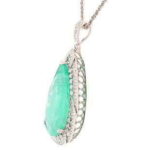 APP 1246k 5562ct Emerald and 138ctw Diamond
