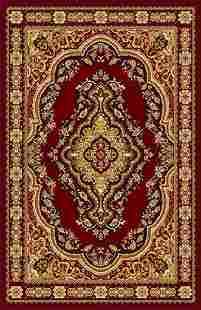 Gorgeous 8x10 Emirates Burgundy Rug Plush High Quality