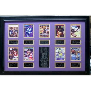 Lakers Legends Plate Signatures