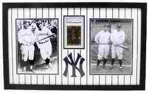 Rare Ruth Gehrig 23kt Gold Anniversary Baseball Card