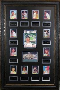1961 Yankees Plate Signatures