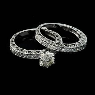 APP 181k Fine Jewelry 14KT White Gold 190CT Round