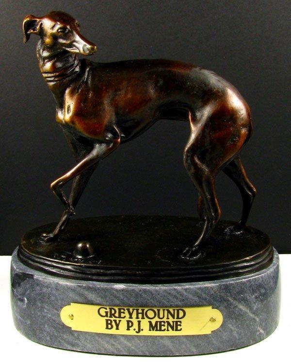 534: Pierre Jules Mene Bronze - Greyhound, Collect