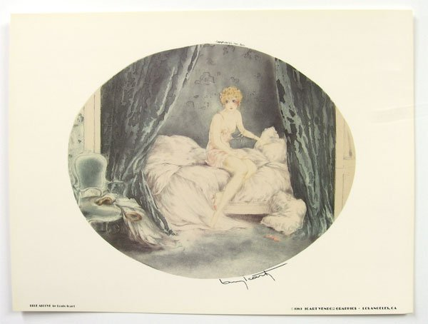 805: LOUIS ICART Blue Alcove Print, Collect