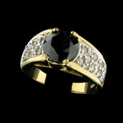 829: APP: $3.9k 14 kt. Gold, 2.22CT Rare Black Diamond