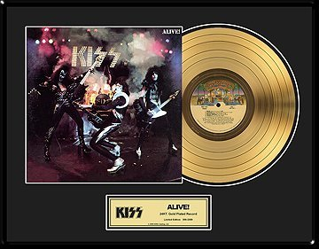 831: KISS ''Alive!'' Gold Record - Collect