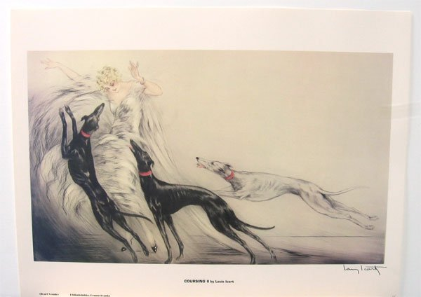 839: LOUIS ICART Coursing II Print, Collect