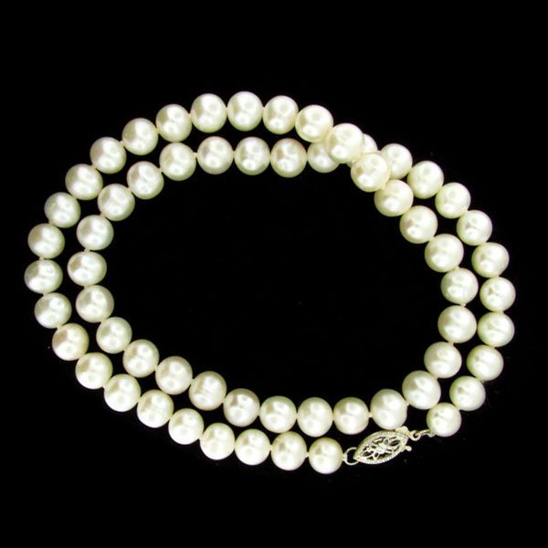 """841: 17"""" Pearl Necklace - Great Gift Idea!!"""