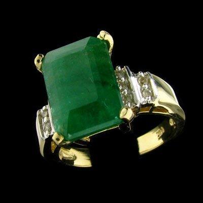 847: APP: $15.6k 14 kt. Gold, 3.18CT Emerald and Diamon