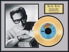 1633 BUDDY HOLLY True Love Ways Gold Record  Coll