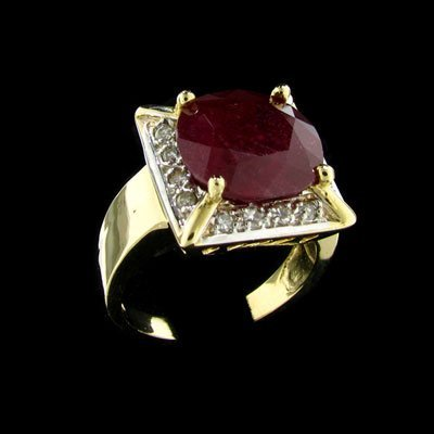 1919: APP: $39.1k 14 kt. Gold, 8.12CT Ruby and Diamond