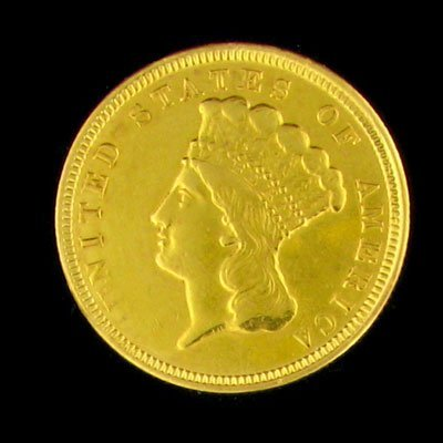1939: 1856 $3 US Indian Head Type Gold Coin - Investmen