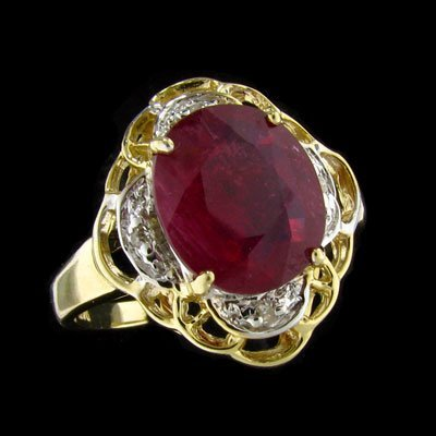 3: APP: 7k 14 kt. Gold, 2.74CT Ruby and Diamond Ring
