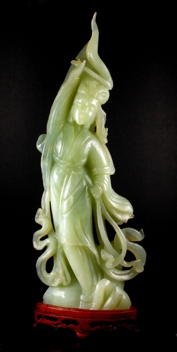 15: Rare Jade Hand Carved Translucent Green, Collect