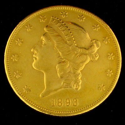 37: 1893-S $20 US Liberty Gold Coin - Potential Investm