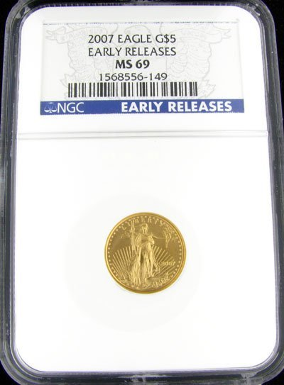 45: 2007 $5 American Eagle Gold Coin - Potential Invest