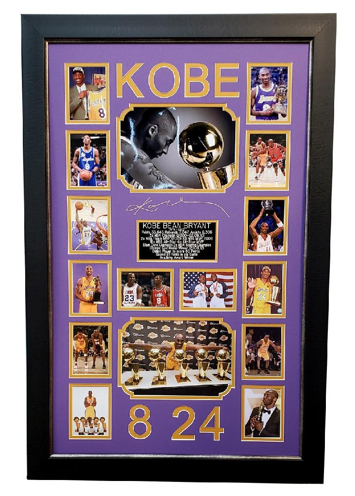 *Outstanding Kobe Bryant Memorabilia Piece Plate Signed