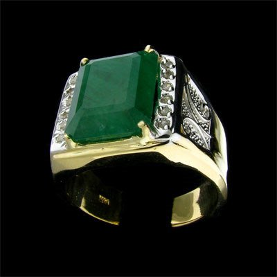 210: APP: $ 25.8k 14 kt. Y/W Gold, 8.35CT Emerald and D