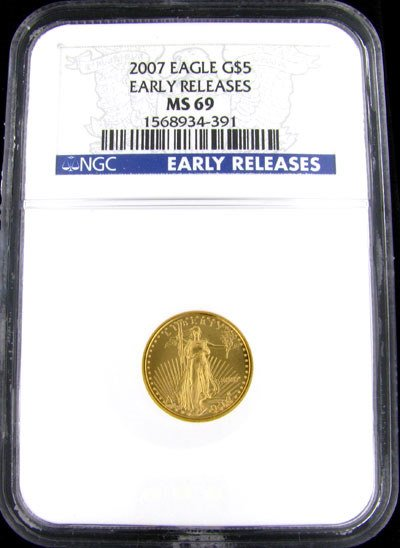 222: 2007 $5 US Eagle Gold Coin - Investment Potential