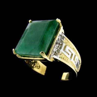230: APP: $ 13.6k 14 kt. Y/W Gold, 12.30CT Emerald and