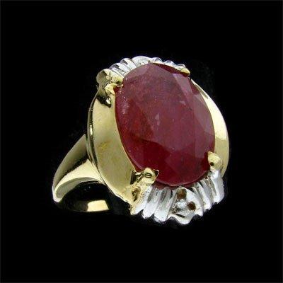 242: APP: $ 11.9k 14 kt. Gold, 4.70CT Ruby Ring