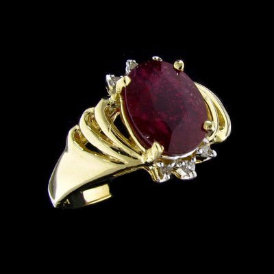 513: APP: $5.6k 14 kt. Y/W Gold, 2.15CT Ruby and Diamon