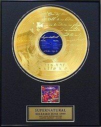 535: SANTANA ''Supernatural'' Gold Record, Collet